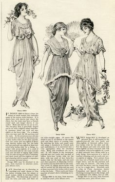 FREE PRINTABLE 1914 WOMEN'S SPRING FASHIONS! vintage fashion clip art, Edwardian clothing illustration,