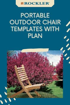 This chair comes apart into two curved halves that nest for easy transport and storage. Buy the optional stainless hardware convenience and durability! #CreateWithConfidence #Portable #OutdoorChair #ChairTemplates #WoodworkingPlan