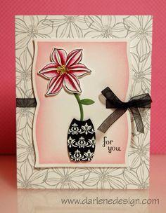Flower in Vase Card...enjoy