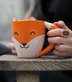 Un mug renard pour un petit déjeuner en douceur.