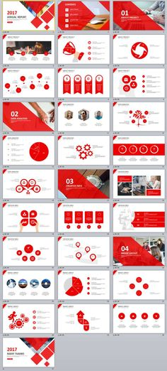 31+ Red multipurpose PowerPoint templates