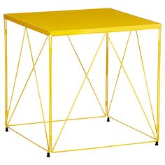 Exquisite in its hammered detail and luxe metallics the carraway oscar wire side table yellow greentooth Images