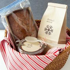Homemade Christmas Gifts for Family - Breakfast With Love - Click pic for 25 DIY Gift Baskets Ideas