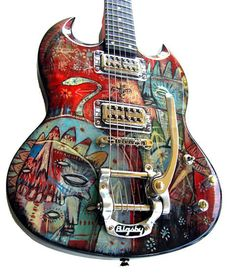 SG Style Custom Guitar by Jesse Reno, via Behance Guitar Pics, Music Guitar, Cool Guitar, Playing Guitar, Learning Guitar, Gretsch, Epiphone, Guitar Strings, Guitar Pedals