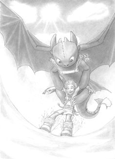 HTTYD fan art by Julia Razeau