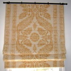 Image result for relaxed roman shade with trim on bottom
