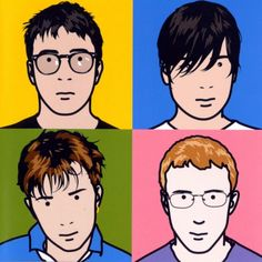 Julian Opie. Everybody recognises this album cover from Blur.
