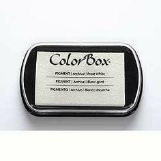 Stempelkissen ColorBox Frost White Weiß von frau zwerg auf DaWanda.com