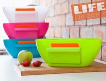 Practical!! Kitchen Garbage Storage Organizer Box Plastic Basket Waste Container Box Clean Cooking Tools Multicolor Best Gift(China (Mainland))