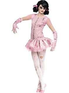 Girls Zombie Ballerina Costume - Party City cute