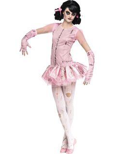 Girls Zombie Ballerina Costume