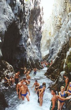 Alcantara Gorge, Sicily Italy