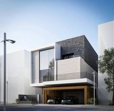 Contemporary house - What if we did a pattern in how the wood is laid AL Sayedh Villa in 📍Kuwait Design Exterior, Facade Design, Modern Exterior, Villa Design, Modern Architecture Design, Residential Architecture, Architecture 101, Minimalist House Design, Modern House Design