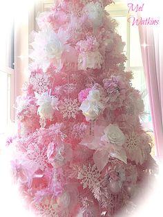 My Pink Christmas Tree 2014 Christmas Tree 2014, Victorian Crafts, Shabby Chic, Craft Ideas, Holiday, Recipes, Xmas, Vacations