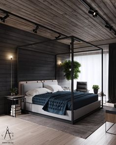 Ideas Home Modern Loft Industrial Style For 2019 Industrial Bedroom Design, Loft Industrial, Vintage Industrial Furniture, Industrial Interiors, Industrial Windows, Industrial Living, Kitchen Industrial, Industrial Wallpaper, Industrial Restaurant