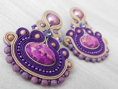 Beads Antistres soutache ..5/2018  ( a new version of the earrings from 2015)