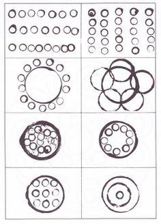reproduire des dispositions de ronds