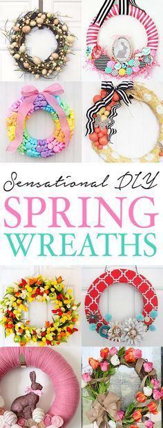 20 Spring and Easter Wreaths | Front doors, Wreaths and Doors