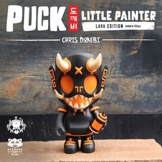 Puck Little Painter Lava Edition 13cm vinyl figure by Chris Dokebi x Strangecat Toys Vinyl Toys, Vinyl Art, Custom Vinyl, Designer Toys, Goblin, Resin Art, Cat Toys, Vinyl Figures, Lava