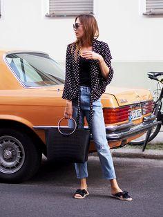 #polkadots #blouse #shirts #summer #highwaist #momjeans #denim #jeans #h&m #streetstyle #berlin #ootd #summerlook #minimal #classic #classy #feminine #helloshopping #effortless #trends #sophisticated #espadrilles #littleliffner #zara
