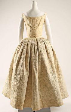 Petticoat mid 19th C Probably AMerican