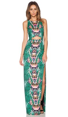 Mara Hoffman Cut Out Column Maxi Dress in Maristar Green   REVOLVE