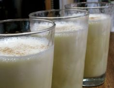 There are a million and one recipes on the internet for eggnog, so believe me when I say that I'm under no illusions that what I share here is going to revolutionize the eggnog industry. :) It has, however, revolutionized my family! After one little taste, they are hooked.