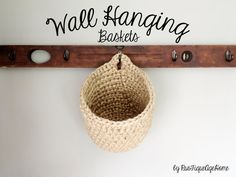 Oversized Hanging Wall Basket Bathroom Storage By RusTiqueAgeHome