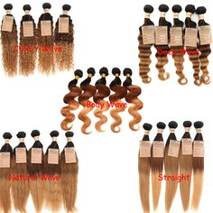"""Best sell!Brazilian Ombre Human Hair Extension 12""""-30"""" Style Hot 3tone 1b33#27# #WIGISS #HairExtension"""