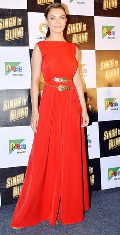 Amy Jackson at Singh Is Bliing trailer launch. #Bollywood #SIBTrailer #SinghIsBliing #Fashion #Style #Beauty #Hot