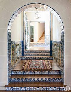 Portuguese-style tile, Pebble Beach residence by Juan Pablo Molyneux