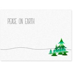 Send your season's greetings in style with a personalized business holiday card.  Personalized greeting cards from On The Ball Promotions are the perfect way to thank customers for their business and wish corporate partners, employees and business associates a happy holiday season. Choose a holiday sentiment and add your company name, logo and signatures for a warm and friendly business Christmas card.  A minimalistic design on pearlescent paper that really shines! Green holographic trees ac