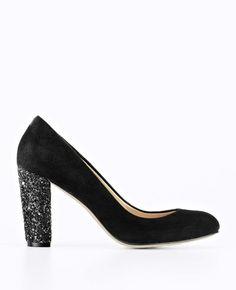 Suede Block Heels