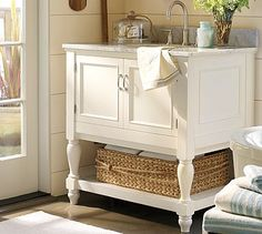 How To Build a Pottery Barn Inspired Vanity - DIYdiva