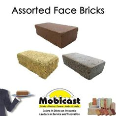 Mobicast ( Bricks, Blocks, Pavers and Kerbs ) also supplies face bricks that comes in 3 main textures which are smooth face, exposed face and rock face. Face bricks are usually used for the exterior face of the wall while the inner skin is usually stock bricks.#bricks #facebricks #mobicast