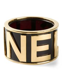 Shop Chanel Vintage extra large logo bangle in What Goes Around Comes Around from the world's best independent boutiques at farfetch.com. Over 1000 designers from 60 boutiques in one website.