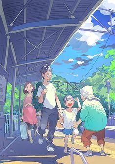 this site is portfolio of my works, and using for my activity hub. Anime Wallpaper Live, Anime Scenery Wallpaper, Epic Art, Amazing Art, Anime Summer, Anime Art Fantasy, Cg Art, Manga Illustration, Kawaii Art