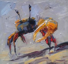 Blue Crab Painting, 'Strong Arm!' by Kevin LePrince