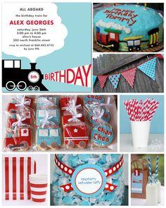 Train Theme Birthday Party Inspiration Board