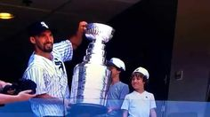 MICHAL ROZSIVAL CHICAGO BLACKHAWKS WITH STANLEY CUP AT WHITE SOX GAME US...