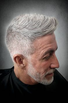 Your changing hairline and salt and pepper doesn't have to be a bad thing by any means. In fact, it might even play to your advantage with these 44 hairstyles that look best on older men. Photo from: Mens Grey Hairstyles, Best Hairstyles For Older Men, Older Men Haircuts, Popular Mens Hairstyles, Best Short Haircuts, Men's Hairstyles, Grey Hair Beard, Grey Hair Men, Guy Hair