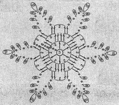 Galeria rozmaitości: Wzory szydełkowe-Boże Narodzenie Crochet Snowflake Pattern, Crochet Motif Patterns, Crochet Stars, Crochet Angels, Crochet Leaves, Christmas Crochet Patterns, Holiday Crochet, Crochet Snowflakes, Christmas Knitting