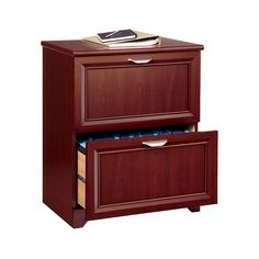 """Realspace® Magellan Collection 2-Drawer Lateral File Cabinet, 30""""H x 23 1/2""""W x 16 1/2""""D, Classic Cherry"""