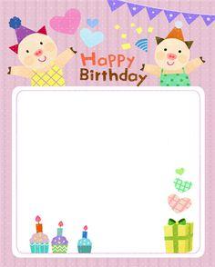 생일편지지 & 메모지 모음 ♡ : 네이버 블로그 Birthday Doodle, Happy Birthday Text, Birthday Board, Crafts For Kids To Make, Diy And Crafts, Happy Bird Day, Frame Border Design, Easter Party, Card Making