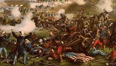 This vintage Civil War Painting shows Union and Confederate troops fighting at The Battle of Bull Run, also known as The Battle of Manassas. Celebrate Civil War and American History with this digitally restored vintage poster from The War Is Hell Store. American Civil War, American History, Native American, Civil War Art, Union Army, Prisoners Of War, Gettysburg, Historical Photos, Troops