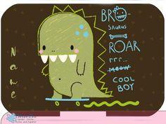 Dino Roar Yumbox Aufkleber mit personalisiert | Yumbox Schutz Tapas, Original, Panino und Mini | Einzigartige Yumbox als Weihnachts Geschenk Box, Cover, Tapas, Messages, Etsy, Mini, Creative, Madness, Sticker