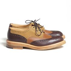 Trickers x Superdenim Crazy Brogue Grained leather, smooth leather and suede all rolled into one.