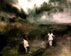 """Saatchi Online Artist: dagmar Hrickova; Oil, Painting """"Jeanne et Blanche"""""""