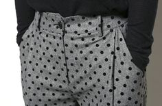 Dot wool slacks
