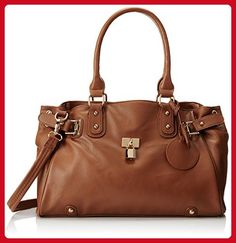 2bec9ed860 MG Collection Lucca Designer Inspired Glamour Shopper Tote Handbag, Brown,  One Size - Hobo